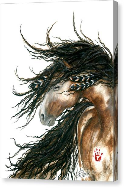 Spirit Canvas Print - Majestic Pinto Horse 80 by AmyLyn Bihrle