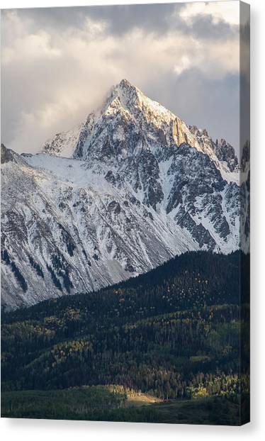 Majestic Light - Mt. Sneffels  Canvas Print