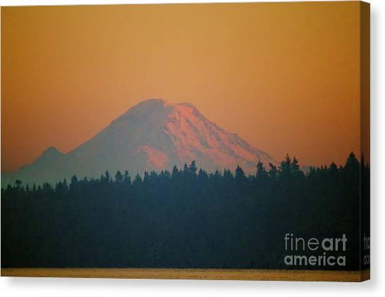Majestic Rainier Canvas Print by Terri Thompson