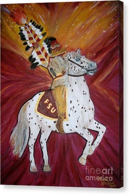 Florida State Fsu Canvas Print - Majestic Spirit by Marcus Hudson