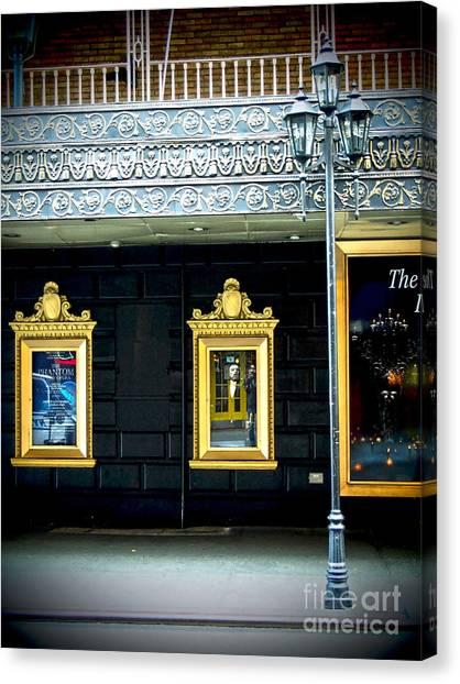 Majestic Theatre Lightpost Canvas Print
