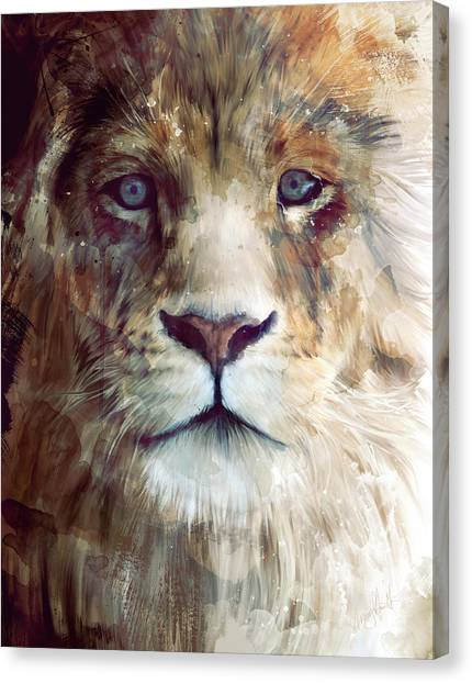 Lions Canvas Print - Majesty by Amy Hamilton