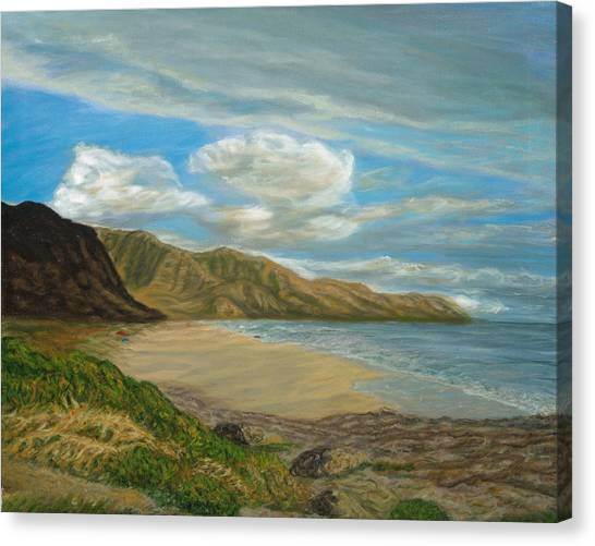 Makaha Beach Canvas Print