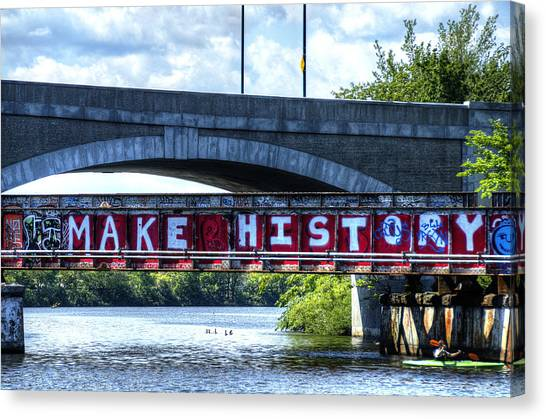 Make History Boston Canvas Print