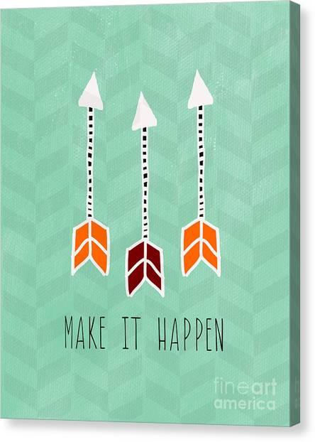 Art Nouveau Canvas Print - Make It Happen by Linda Woods