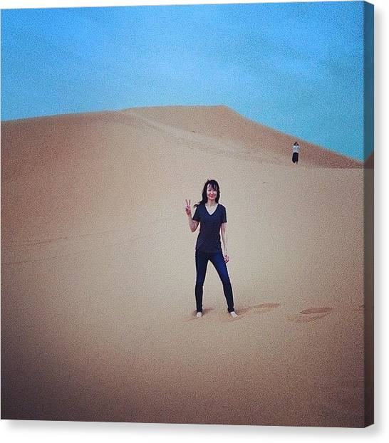 Sahara Desert Canvas Print - Make Sure You Don't Get Photo Bombed by Blogatrixx