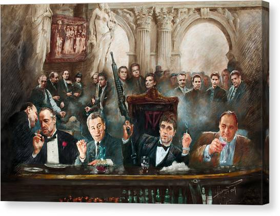 Scarface Canvas Print - Make Way For The Bad Guys Col by Ylli Haruni