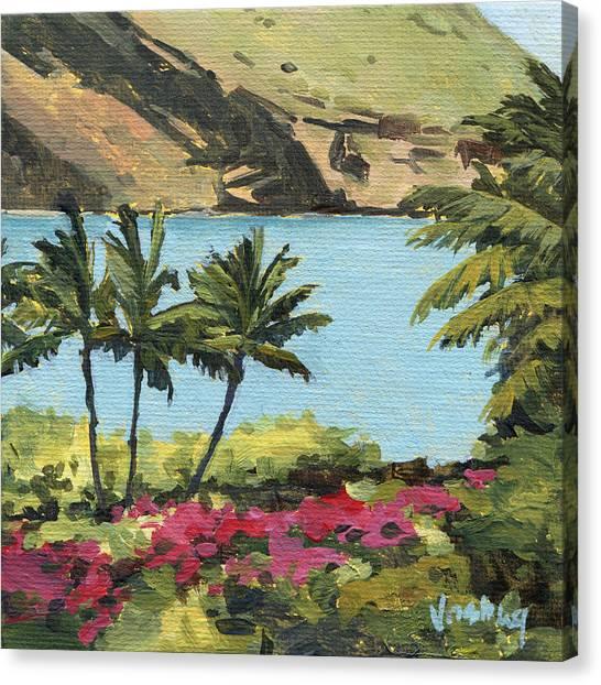 Mauna Loa Canvas Print - Makena Palms by Stacy Vosberg