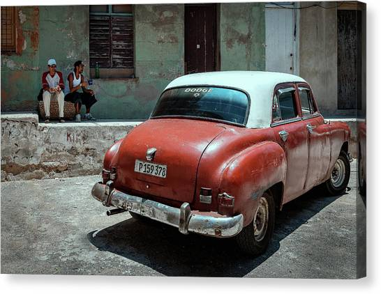 Dodge Canvas Print - Making A Break by Andreas Bauer