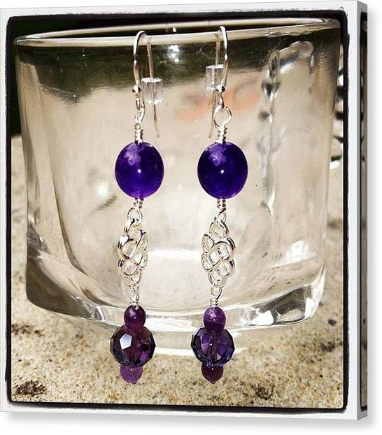 Gemstones Canvas Print - Making #jewelry For An Upcoming Sale by Teresa Mucha