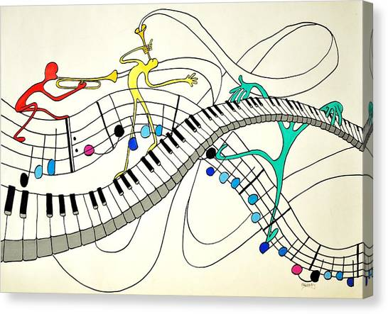 Making Music Canvas Print by Glenn Calloway