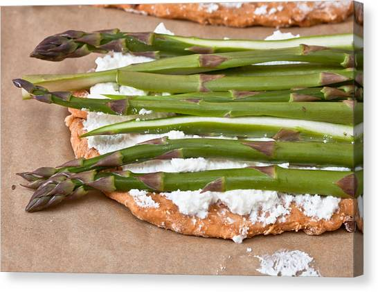 Asparagus Canvas Print - Making Pizza by Tom Gowanlock