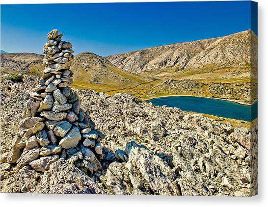 Drywall Canvas Print - Mala Luka Stone And Sea Desert by Brch Photography