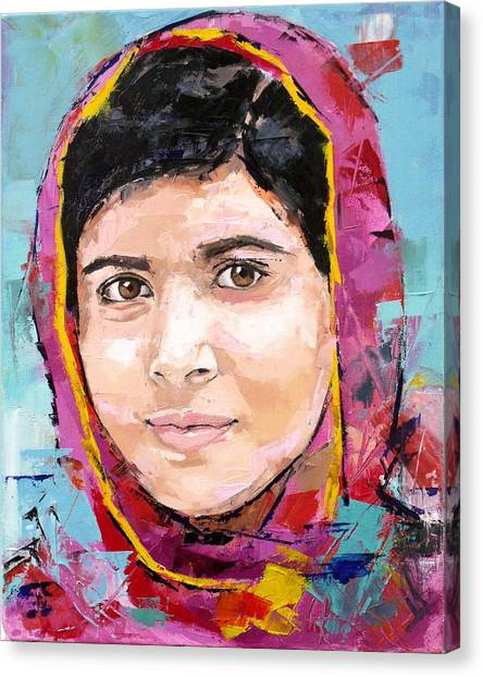Nobel Canvas Print - Malala Yousafzai by Richard Day