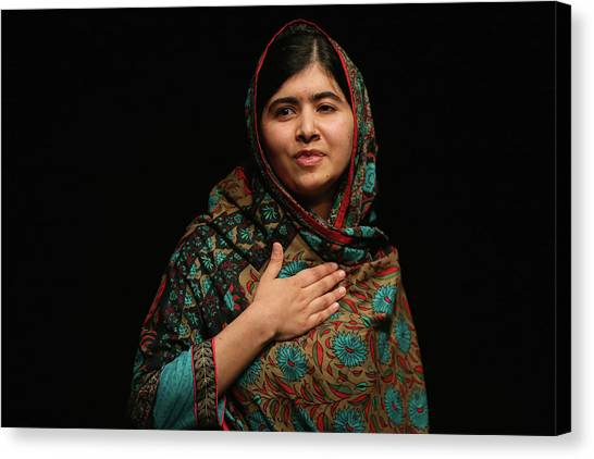Malala Yousafzai Wins Nobel Peace Prize Canvas Print