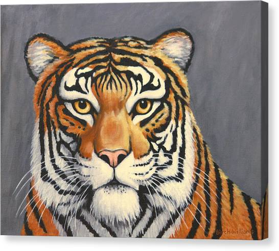 Malayan Tiger Portrait Canvas Print