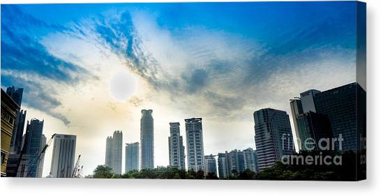 Malaysia Skyline Canvas Print by Receb Parsel