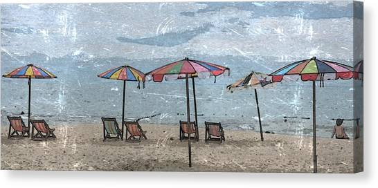 Malazy Day At The Beach Canvas Print