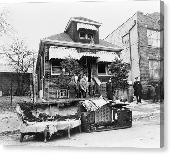 Malcolm X Home, 1965 Canvas Print by Granger