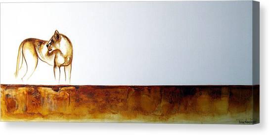 Lioness - Original Artwork Canvas Print