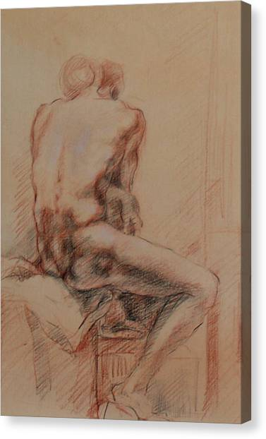 Becky Kim Artist Canvas Print - Male Nude 1 by Becky Kim