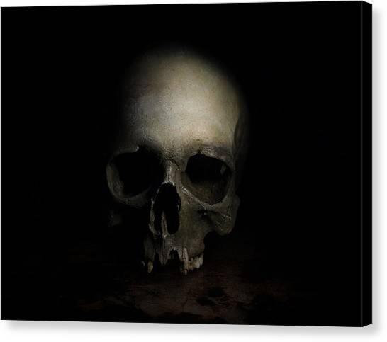 Male Skull Canvas Print