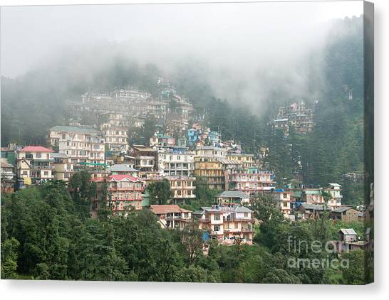 Canvas Print featuring the photograph Maleod Ganj Of Dharamsala by Yew Kwang
