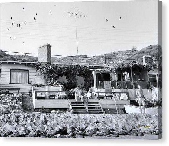 Malibu Beach House - 1960 Canvas Print
