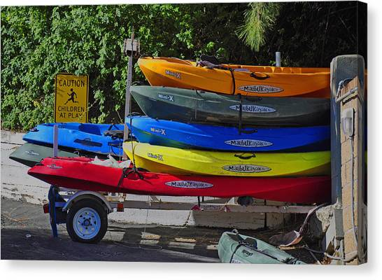 Malibu Kayaks Canvas Print