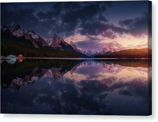 Alberta Canvas Print - Maligne Mountains by Juan Pablo De