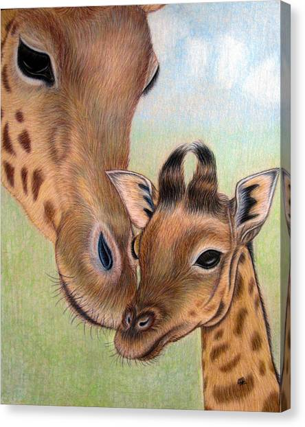 Mama Loves Me Canvas Print