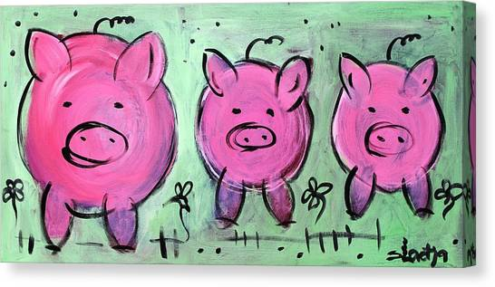 Mama Pig Canvas Print