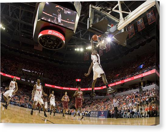 Boston College Canvas Print - Mamadi Diane Dunk Against Boston College by Jason O Watson