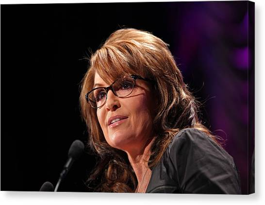 Sarah Palin Canvas Print - Mamma Grizzley by Mike Flynn