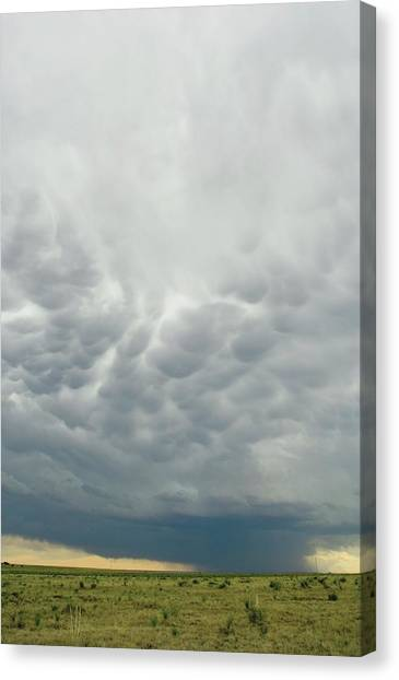 Thunderclouds Canvas Print - Mammatus Clouds by Jim Reed Photography/science Photo Library