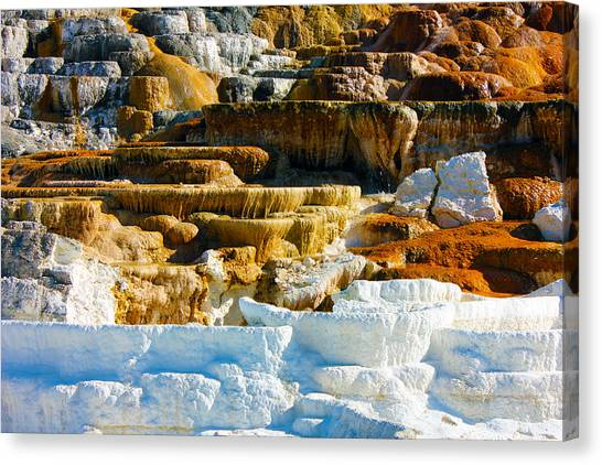 Mammoth Hot Springs Rock Formation No1 Canvas Print