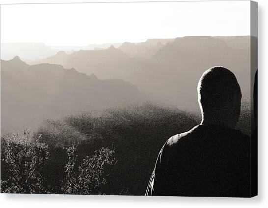 Man At Grand Canyon Canvas Print