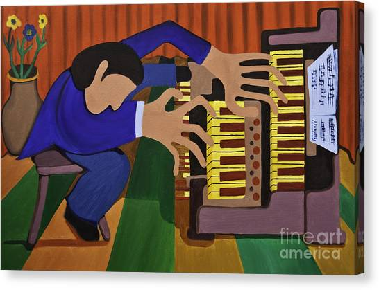 The Organist Canvas Print