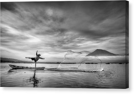Nets Canvas Print - Man Behind The Nets by Arief Siswandhono