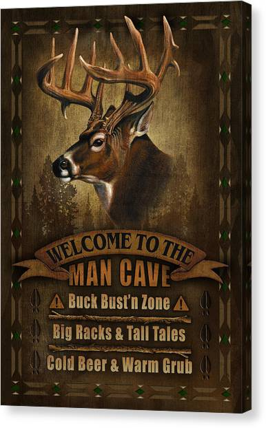 Turkeys Canvas Print - Man Cave Deer by JQ Licensing