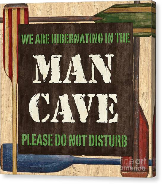 Dad Canvas Print - Man Cave Do Not Disturb by Debbie DeWitt