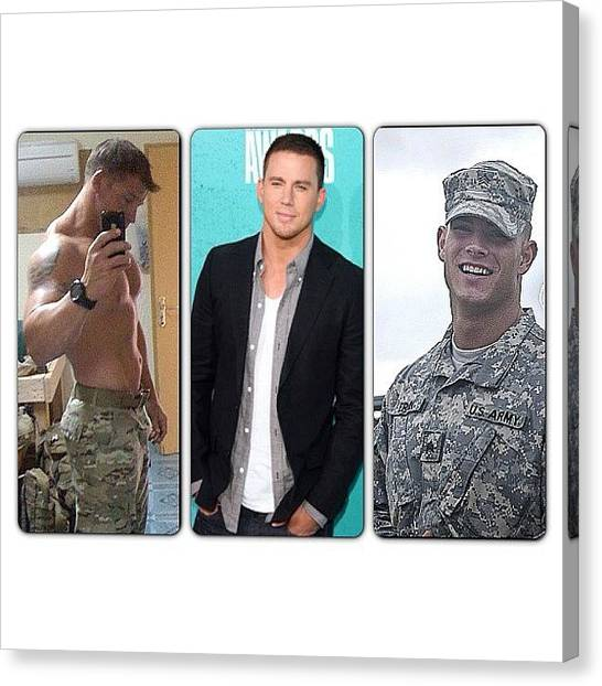 Army Canvas Print - Man Crush Monday 😉😍😘😛 Mmm by Amber Baby