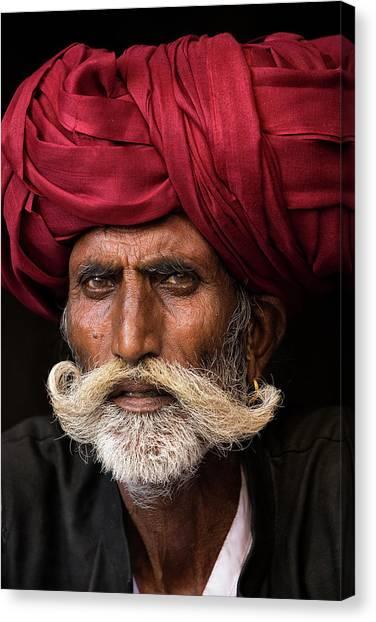 India Canvas Print - Man From Rajasthan by Haitham Al Farsi