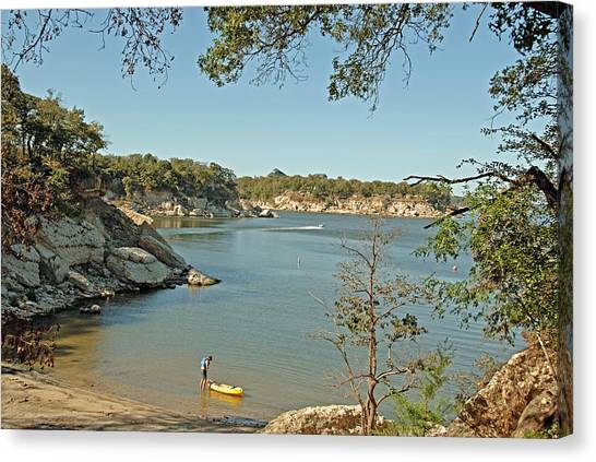 Man Going Kayaking Canvas Print
