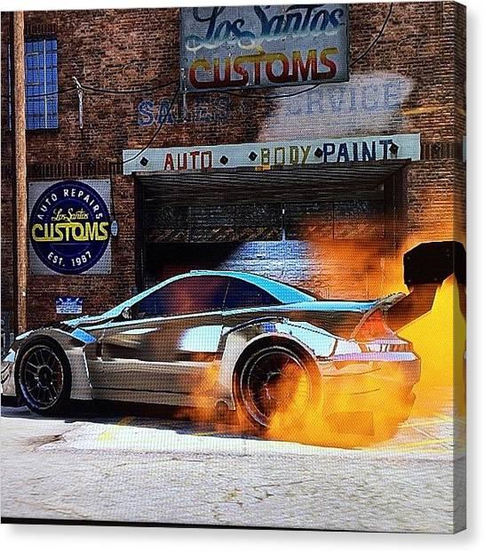 Xbox Canvas Print - Man I Love Gta.... My Ride! by Ady Griggs