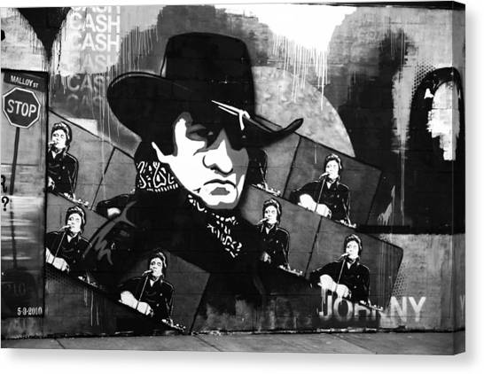 Folk Singer Canvas Print - Man In Black by Dan Sproul