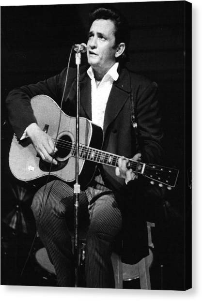 Johnny Cash Canvas Print - Johnny Cash by Retro Images Archive