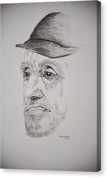 Man In Cap Canvas Print by Glenn Calloway