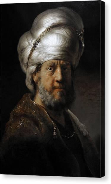 Rijksmuseum Canvas Print - Man In Oriental Dress, 1635, By Rembrandt 1606-1669 by Bridgeman Images