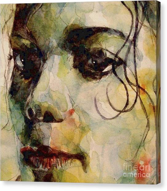 Michael Jackson Canvas Print - Man In The Mirror by Paul Lovering